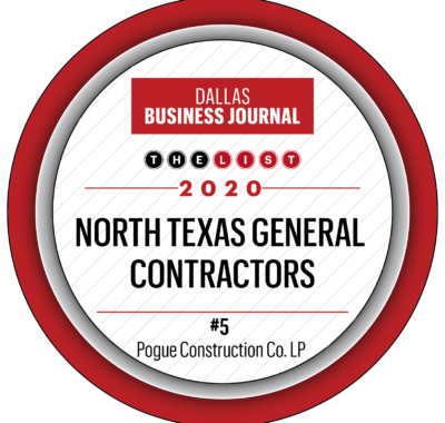 Pogue Construction Ranks #5 on Top Contractors List