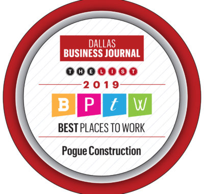 "Pogue Named to List of ""Best Places to Work"" for the 3rd Year in a Row"